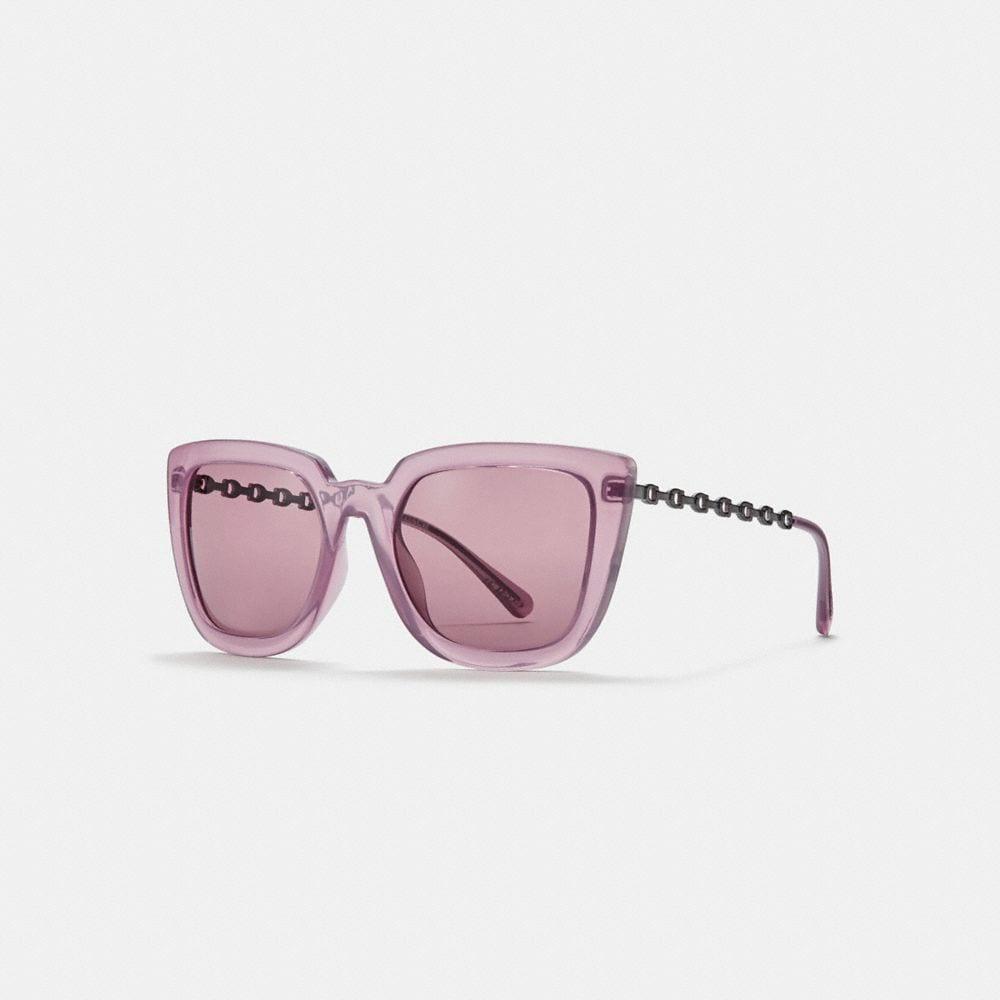 Coach Signature Chain Large Square Sunglasses
