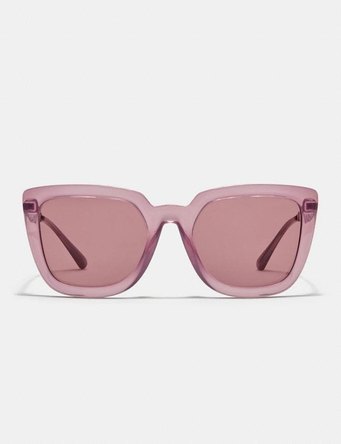 Coach Signature Chain Large Square Sunglasses Transparent Purple DEFAULT_CATEGORY Alternate View 2