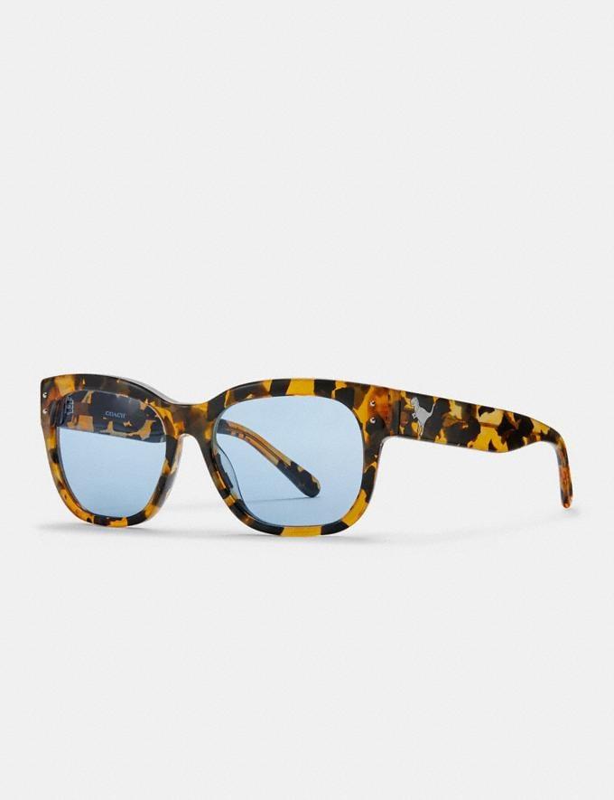 7081f4d4da68 Coach Eli Rexy Square Sunglasses Honey Mosaic/Blue Solid Men Accessories  Sunglasses