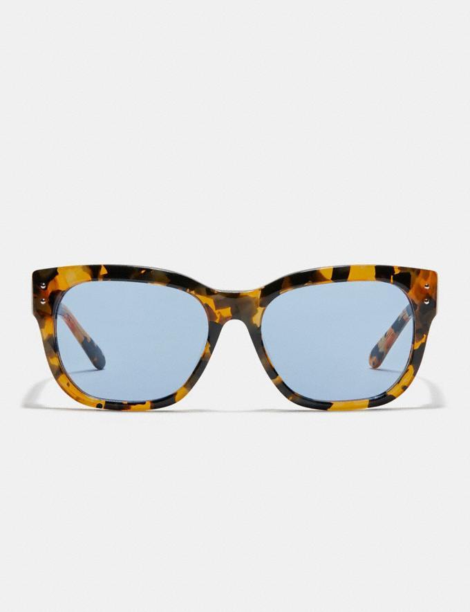 Coach Eli Rexy Square Sunglasses Black/Purple Mirror DEFAULT_CATEGORY Alternate View 2