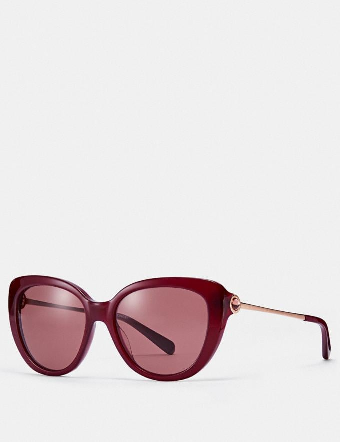 Coach Jessa Cat Eye Sunglasses Aubergine