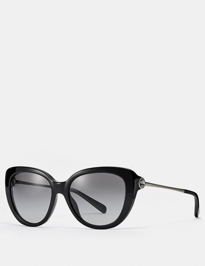 Coach Jessa Cat Eye Sunglasses Black