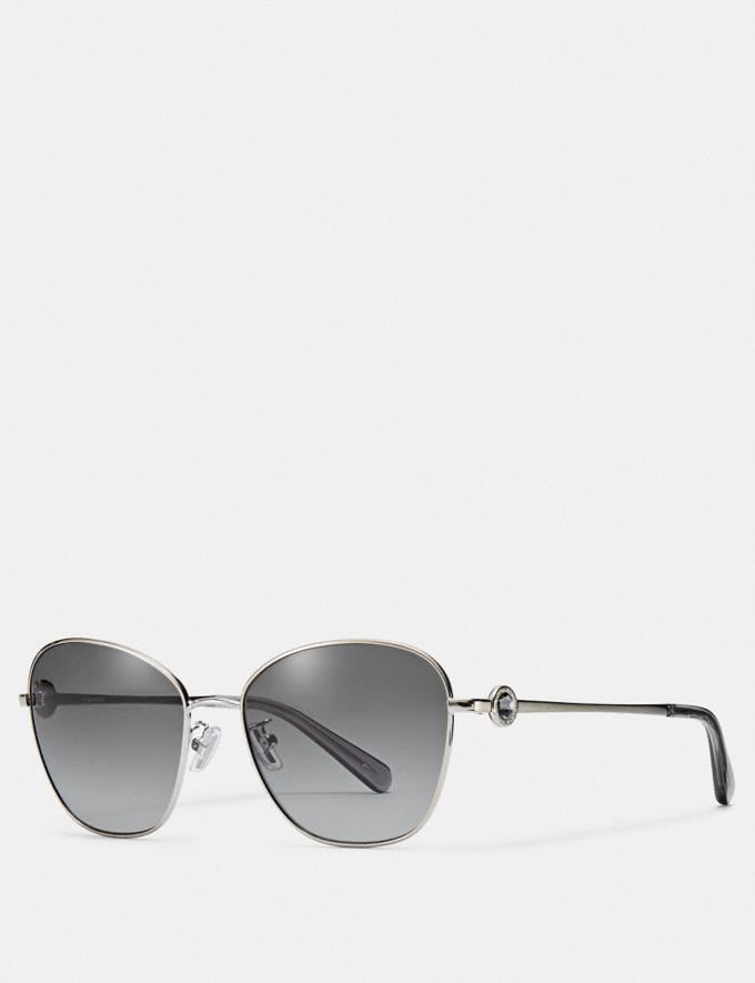 Coach Gia Butterfly Sunglasses /Shiny Light Gold/Brown Solid