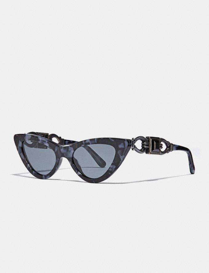 Coach 1941 Cat Eye Sunglasses Cornflower Tortoise