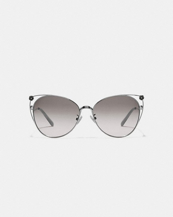 Coach TEA ROSE CAT EYE OPEN SUNGLASSES