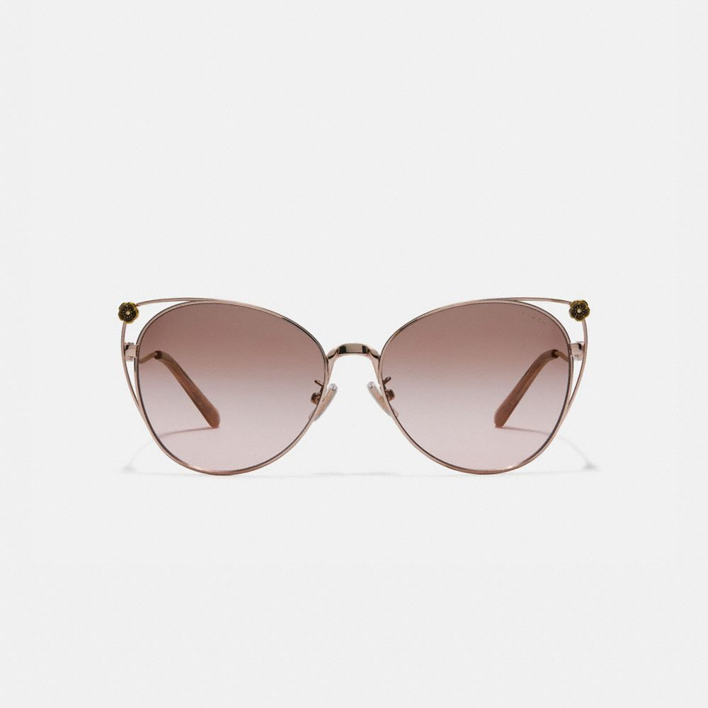 Coach Tea Rose Cat Eye Open Sunglasses Alternate View 2