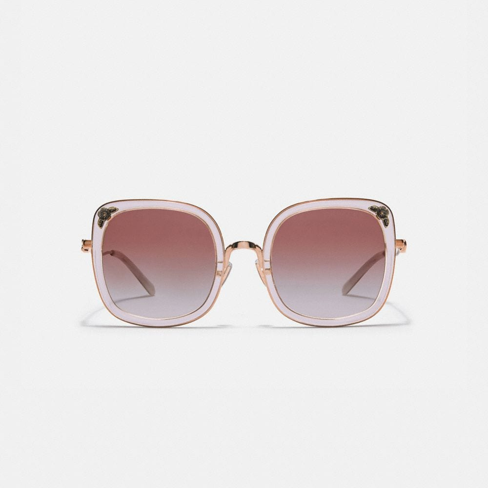 Coach Tea Rose Square Sunglasses Alternate View 1