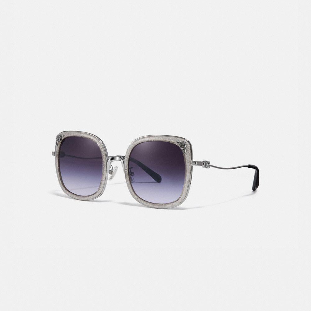 Coach Tea Rose Square Sunglasses