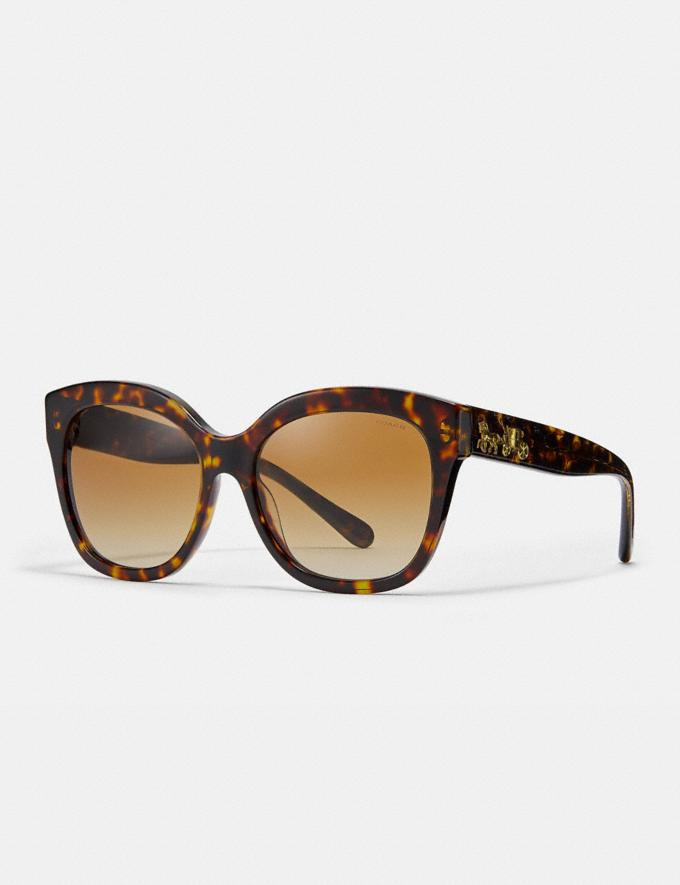 Coach Signature Square Sunglasses Dark Tortoise Women Accessories Sunglasses