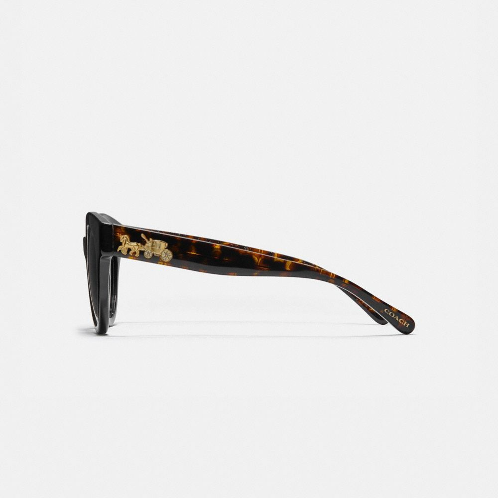 Coach Signature Round Sunglasses Alternate View 3