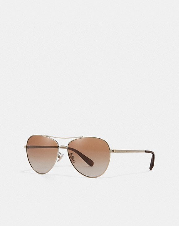 Coach RYAN JEWELED PILOT SUNGLASSES
