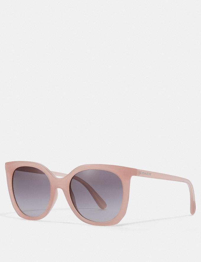 Coach Alexa Square Sunglasses Milky Pink Blush