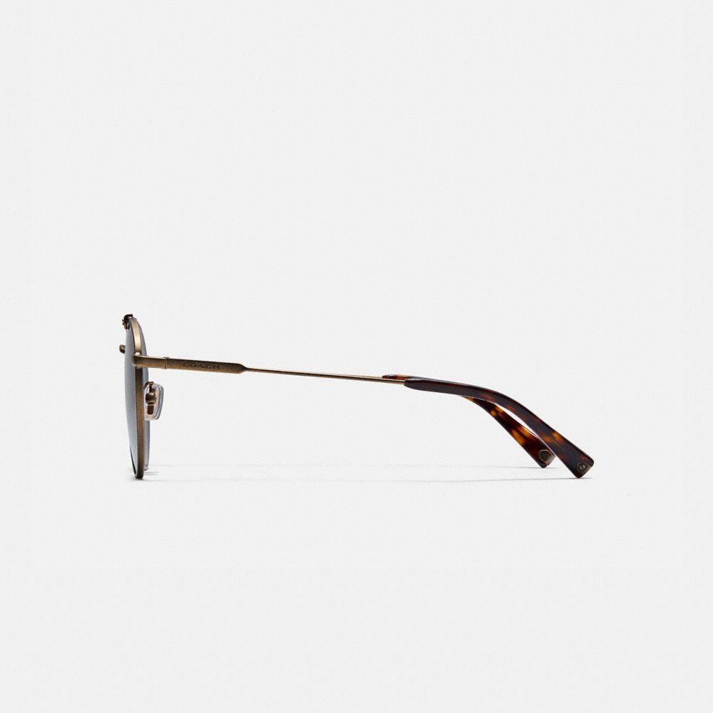 Coach Thin Metal Round Sunglasses Alternate View 3