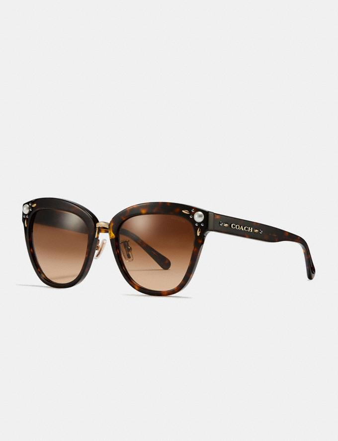 Coach Prairie Rivets Square Sunglasses Black Women Accessories Eyewear