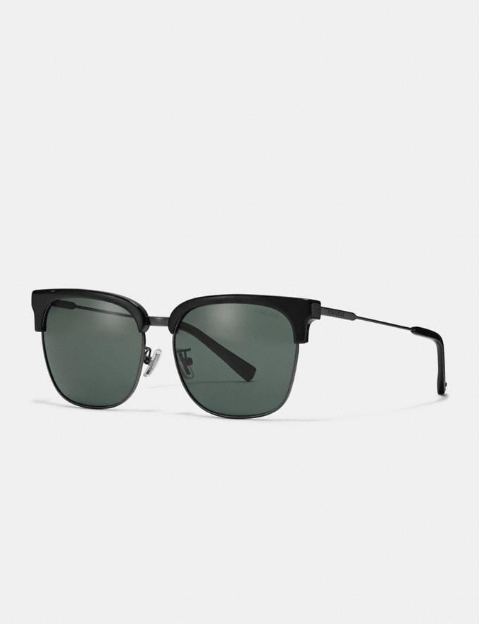 Coach Retro Frame Sunglasses Black New Men's Trends Denim