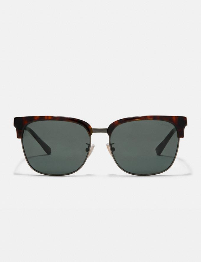 Coach Retro Frame Sunglasses Dark Tortoise Gifts For Him Alternate View 2