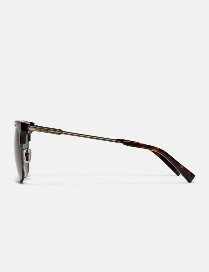 Coach Retro Frame Sunglasses Dark Tortoise Gifts For Him Alternate View 3