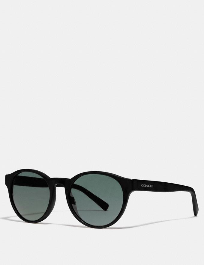 Coach Wythe Round Sunglasses Black