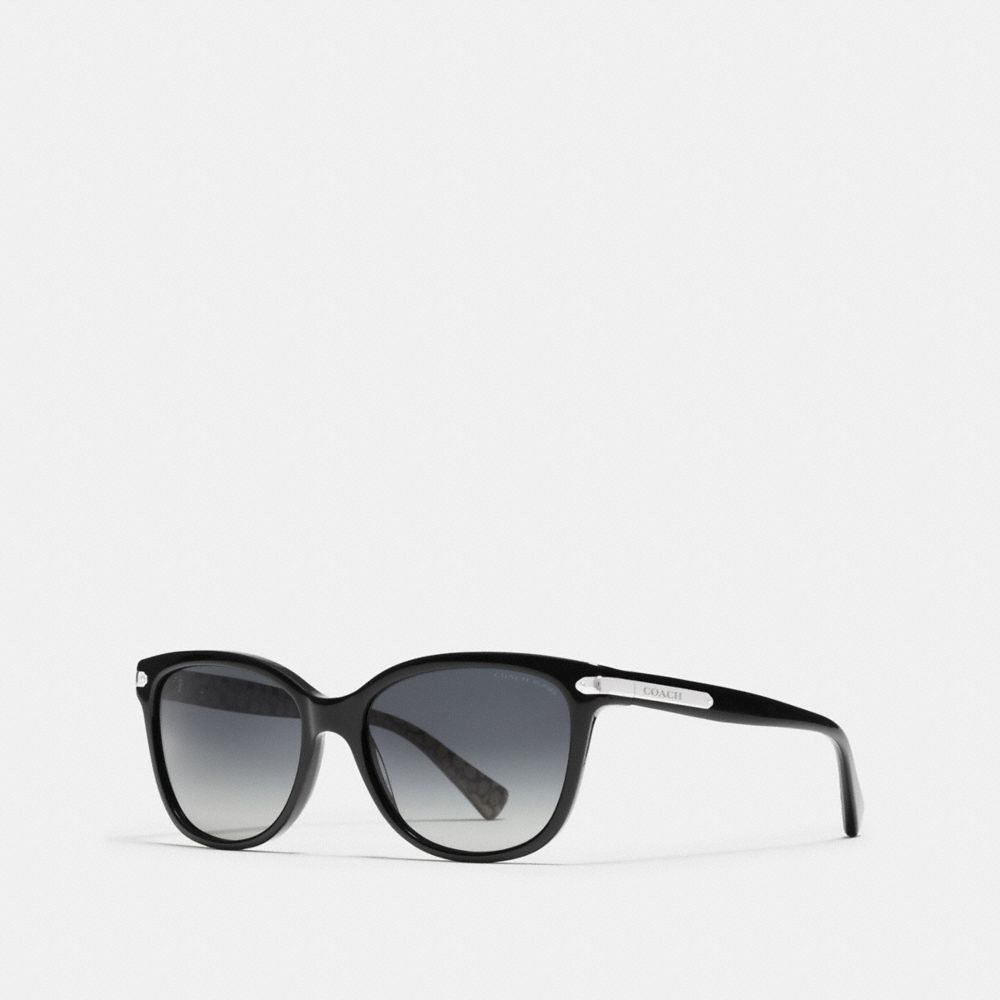 Coach Tag Temple Cat Eye Sunglasses