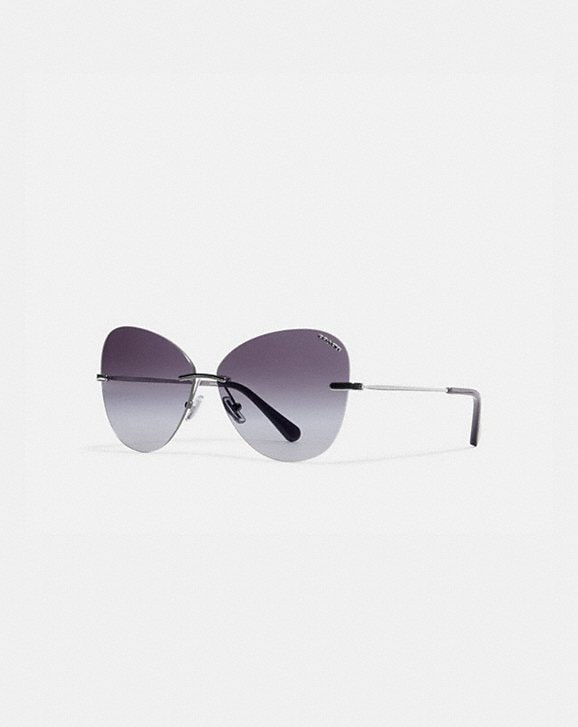 Coach RIMLESS LENS APPLIQUE SUNGLASSES