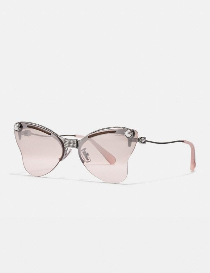 Coach Butterfly Sunglasses Pink/Silver/Gunmetal Women Accessories Sunglasses