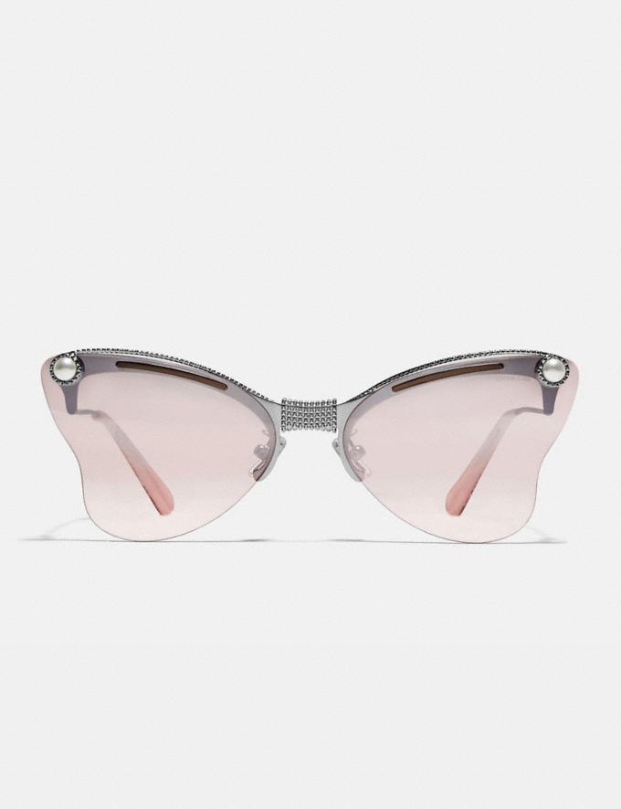 Coach Butterfly Sunglasses Pink/Silver/Gunmetal Women Accessories Sunglasses Alternate View 2