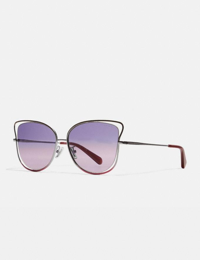 Coach Wire Frame Butterfly Sunglasses Shiny Bronze/Silver/Pink SALE Private Event Women's