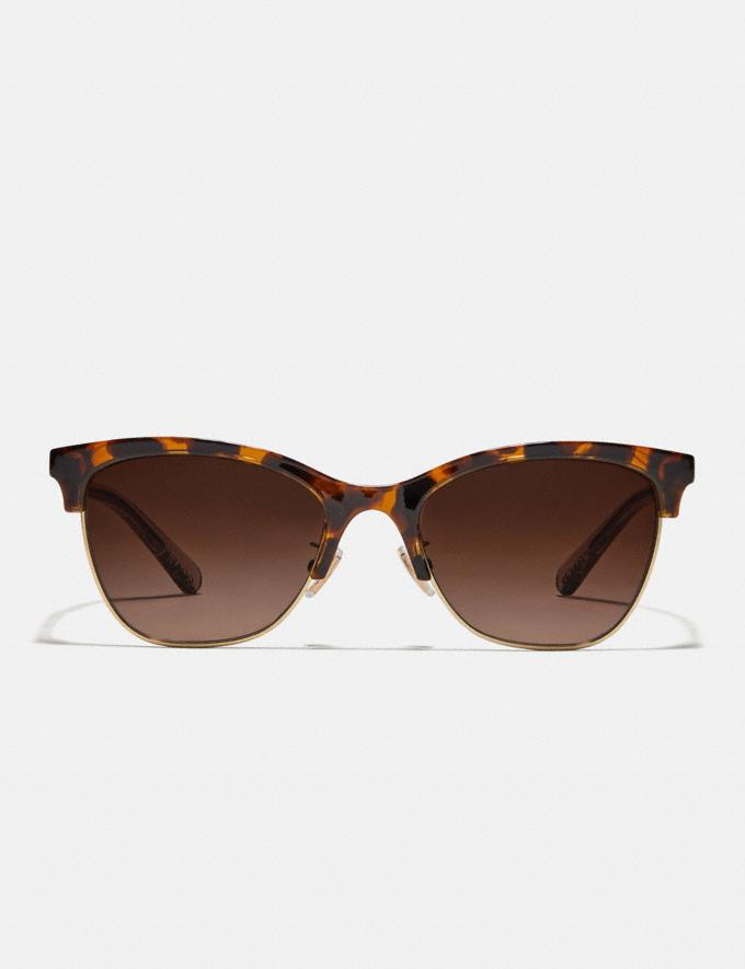 Coach Signature Retro Sunglasses Dark Tortoise Damen Accessoires Sonnenbrillen Alternative Ansicht 2