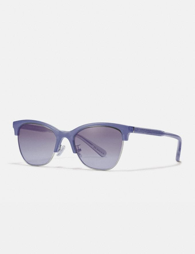 Coach Signature Retro Sunglasses Transparent Lilac Women Accessories