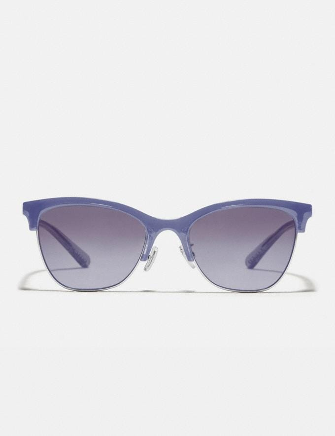 Coach Signature Retro Sunglasses Transparent Lilac Women Accessories Sunglasses Alternate View 2