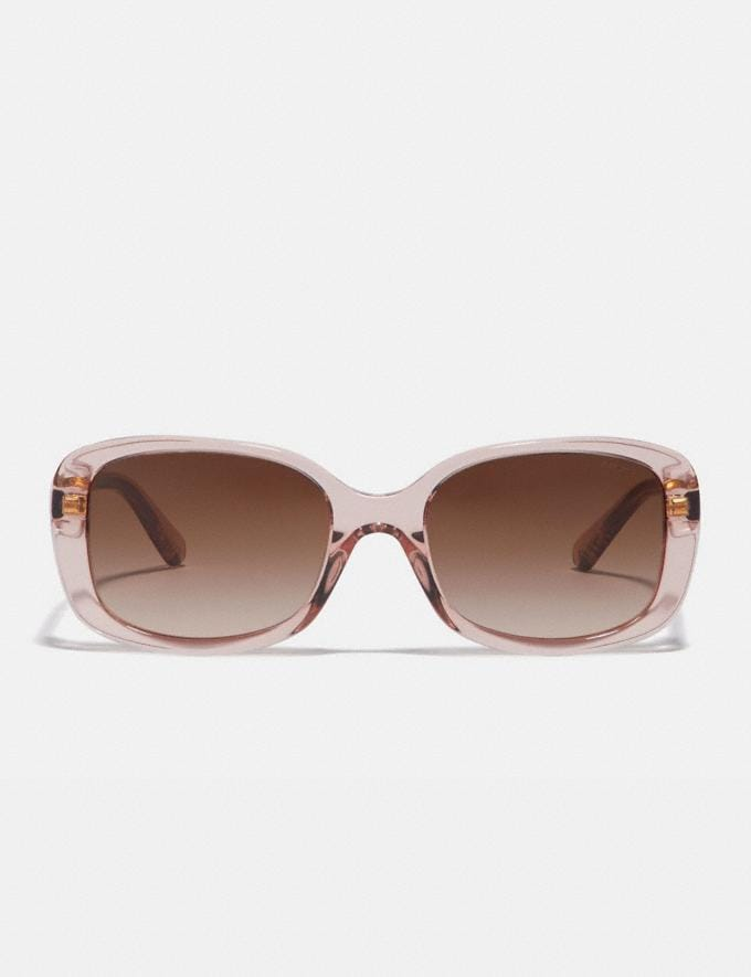 Coach Signature Rectangle Sunglasses Champagne Women Accessories Eyewear Alternate View 2