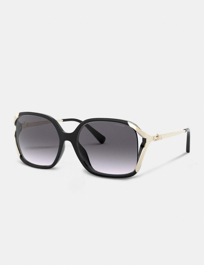 Coach Oversized Horse and Carriage Sunglasses Black Gifts For Her Under $300