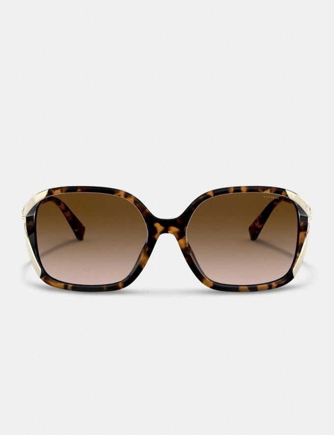Coach Oversized Horse and Carriage Sunglasses Dark Tortoise Women Accessories Sunglasses Alternate View 2