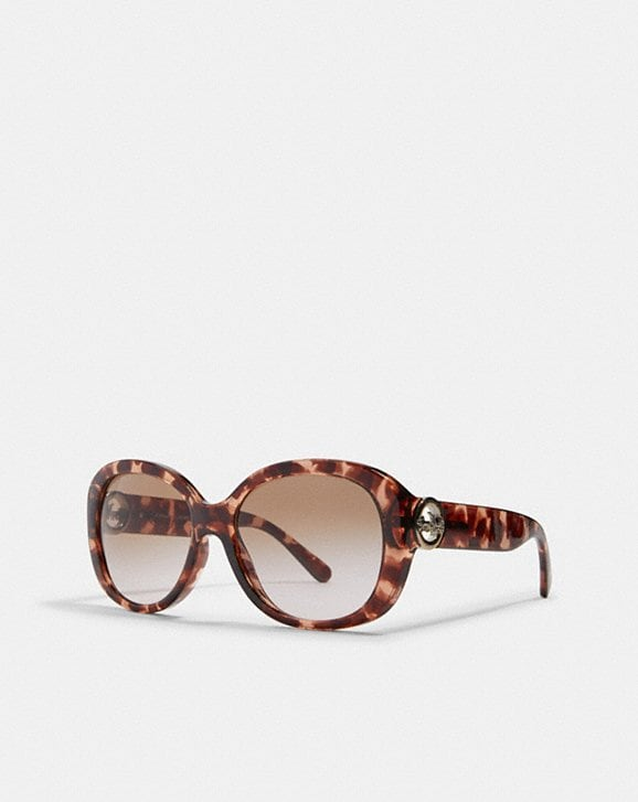 Coach OVERSIZED METAL SOFT SQUARE SUNGLASSES