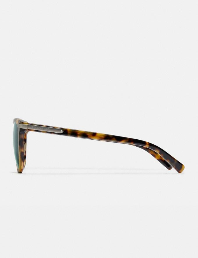 Coach Round Frame Sunglasses Tokyo Tortoise/Green Gifts For Him Under $300 Alternate View 3