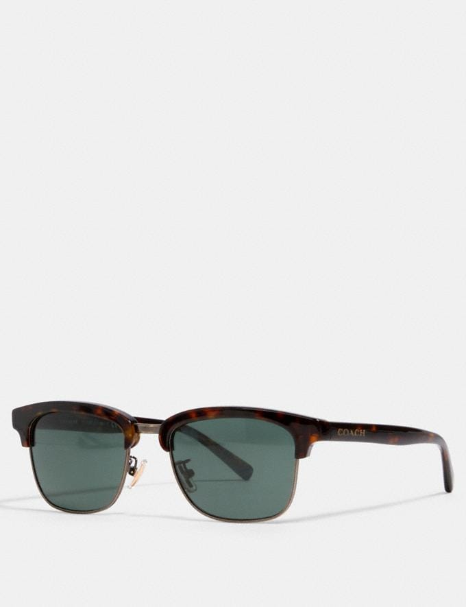 Coach Dean Square Sunglasses Dark Tortoise