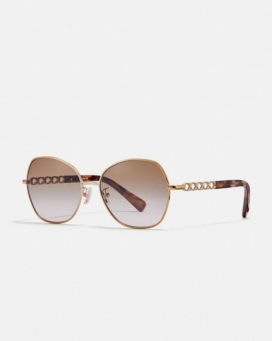 SIGNATURE CHAIN ROUND SUNGLASSES