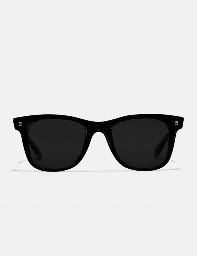 Coach Signature Glitter Metal Square Sunglasses Black Women Accessories Eyewear Alternate View 2