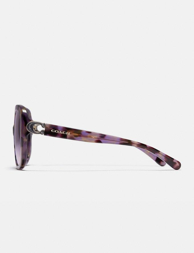 Coach Sculpted Signature Soft Square Sunglasses Lavender Tortoise Women Accessories Eyewear Alternate View 3