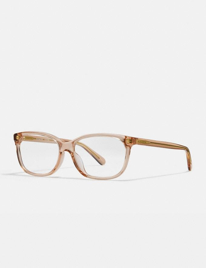 Coach Pillow Frame Eyeglasses Transparent Pink Gifts For Her Under $300