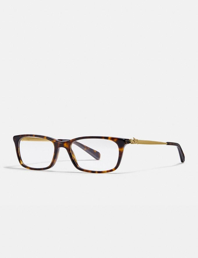 Coach Piper Eyeglasses Dark Tortoise Women Accessories Eyewear