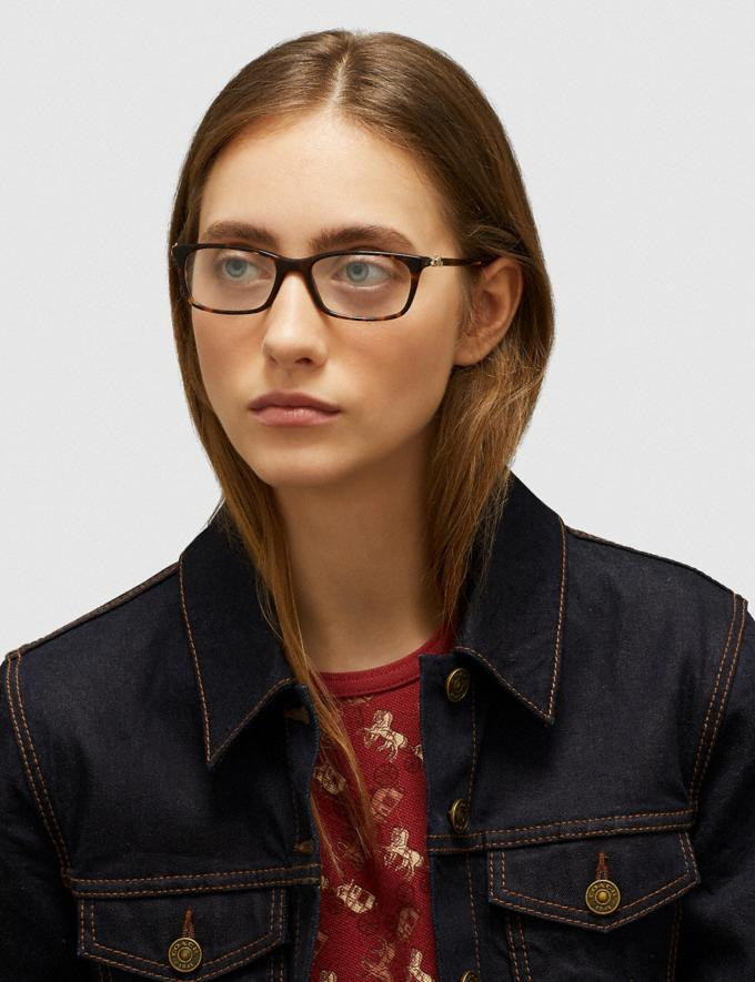 Coach Piper Eyeglasses Dark Tortoise Women Accessories Eyewear Alternate View 1