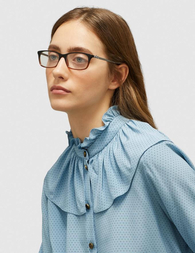 Coach Piper Eyeglasses Black Amber Glitter Gradient Women Accessories Eyewear Alternate View 1