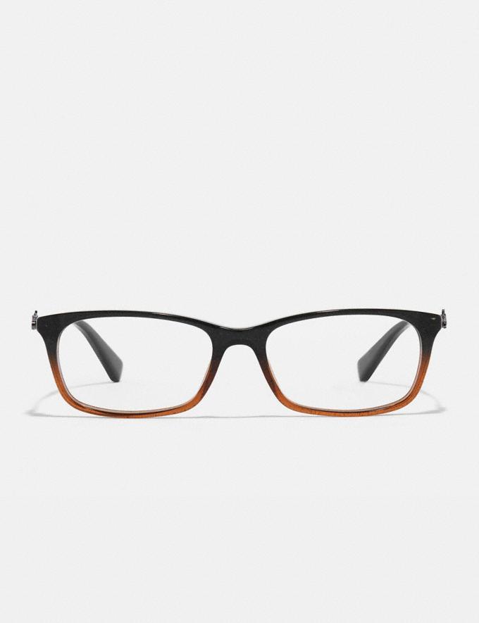 Coach Piper Eyeglasses Black Amber Glitter Gradient Women Accessories Eyewear Alternate View 2
