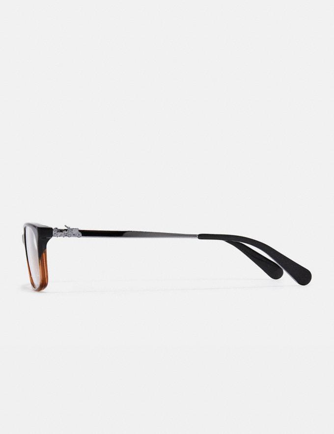 Coach Piper Eyeglasses Black Amber Glitter Gradient Women Accessories Eyewear Alternate View 3
