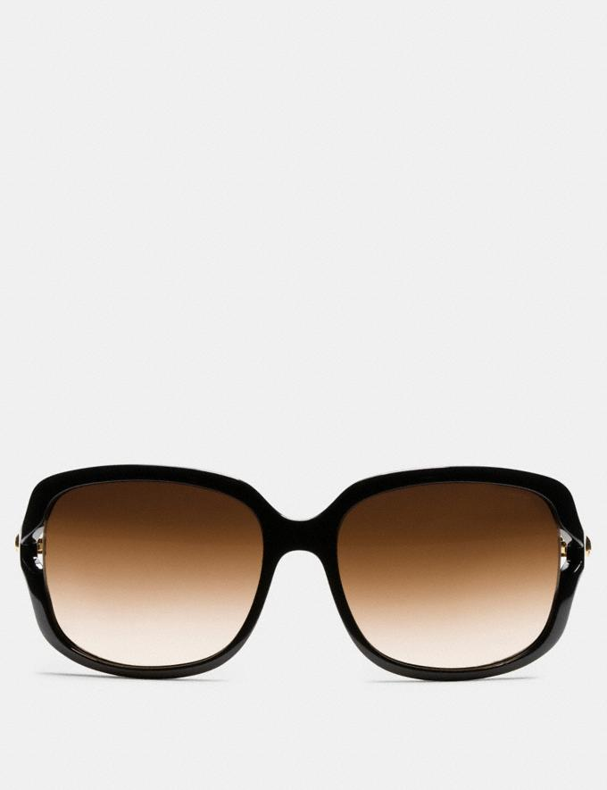 Coach Rivet Square Sunglasses Black/Wild Beast Women Accessories Sunglasses Alternate View 1