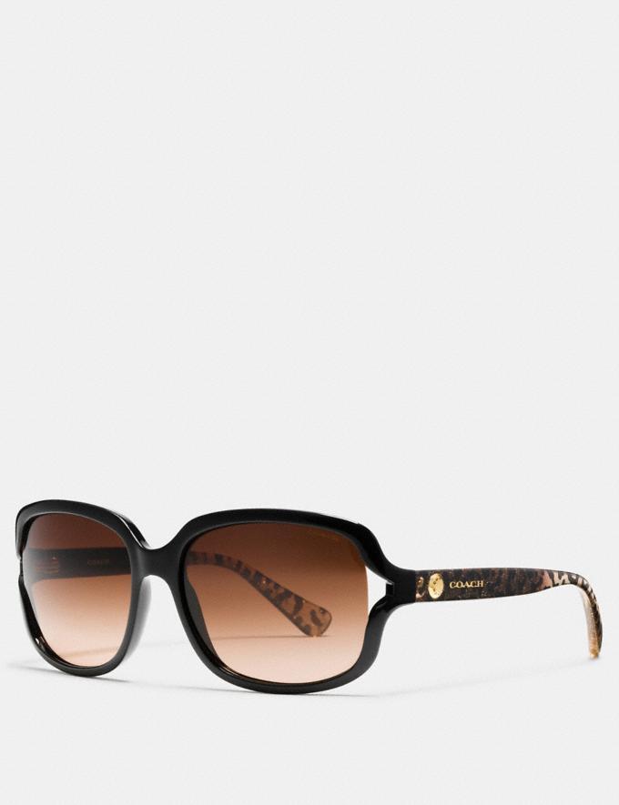 Coach Rivet Square Sunglasses Black/Wild Beast Women Accessories Sunglasses