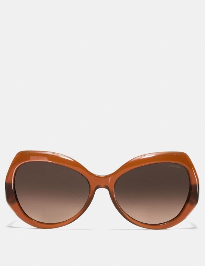 Coach Idol Hexagon Sunglasses Olive Brown Gradient/Olive  Alternate View 1
