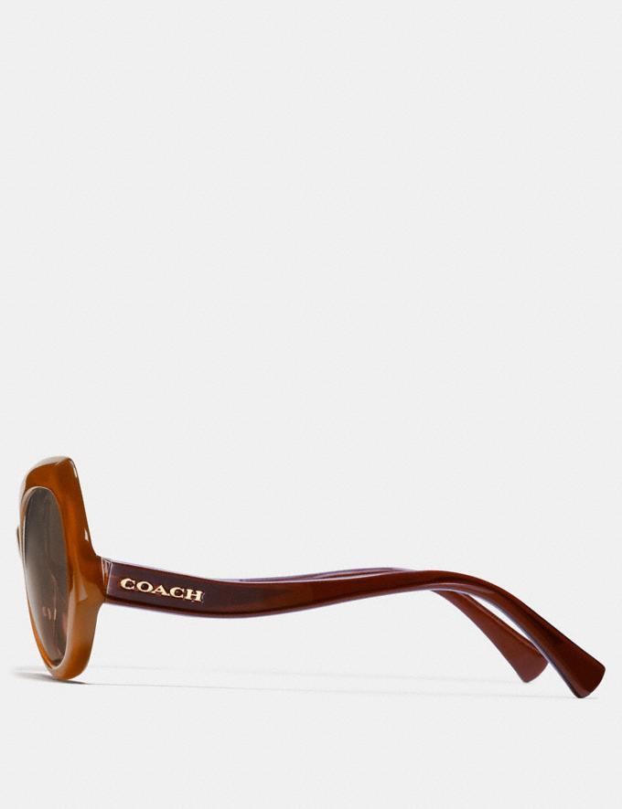 Coach Idol Hexagon Sunglasses Olive Brown Gradient/Olive  Alternate View 2