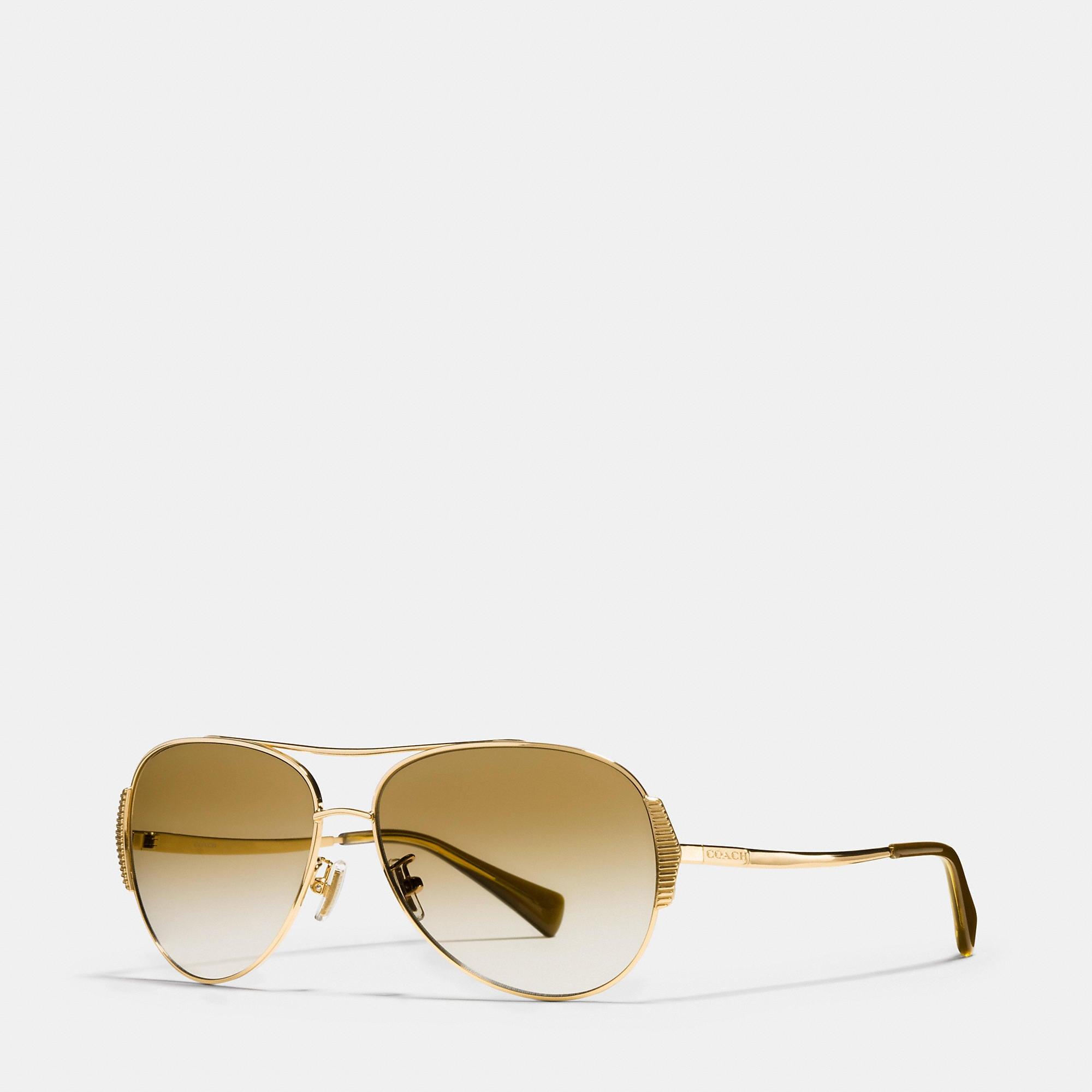 Coach Idol Pilot Sunglasses